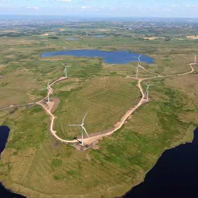 Aerial view of Whitelees area